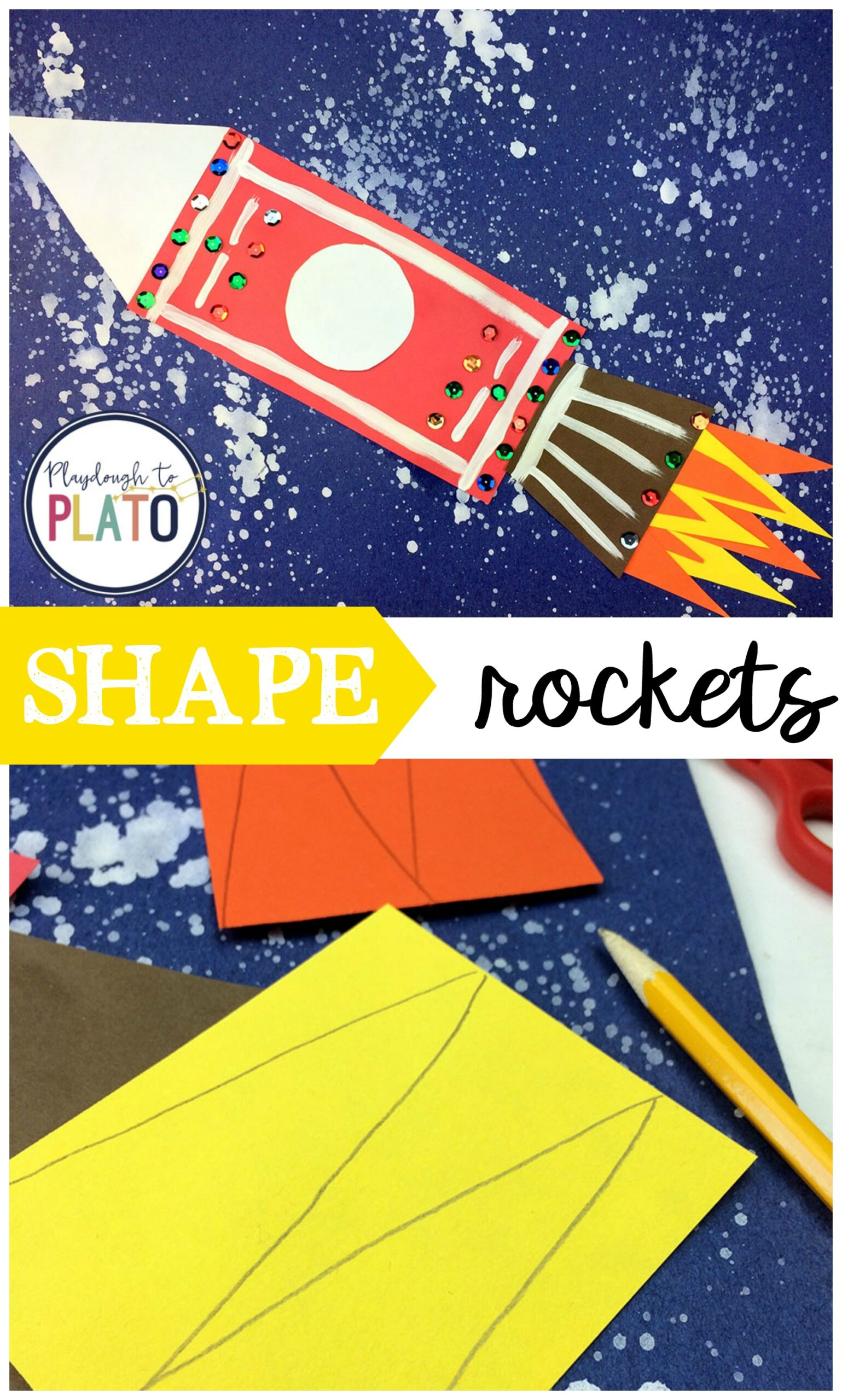 Outer Space Shape Rockets