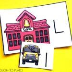 School and Bus Alphabet Match