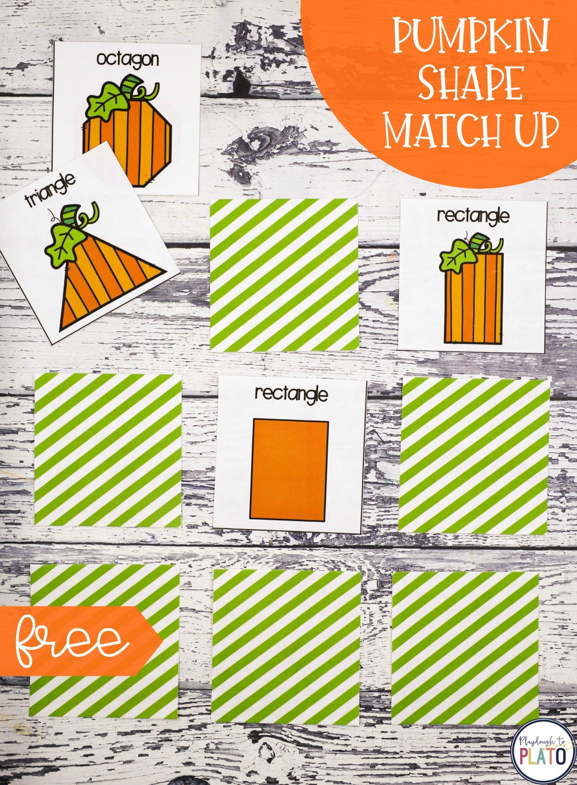 Pumpkin Shape Match Up