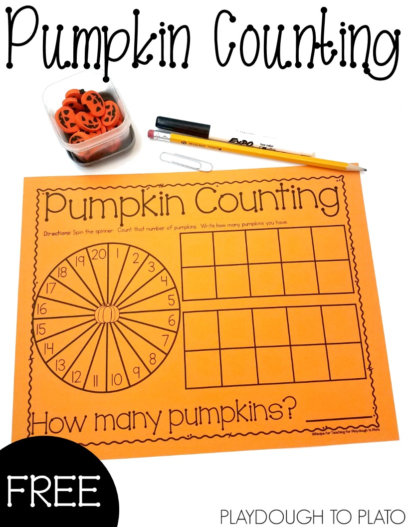 Pumpkin Counting Mat