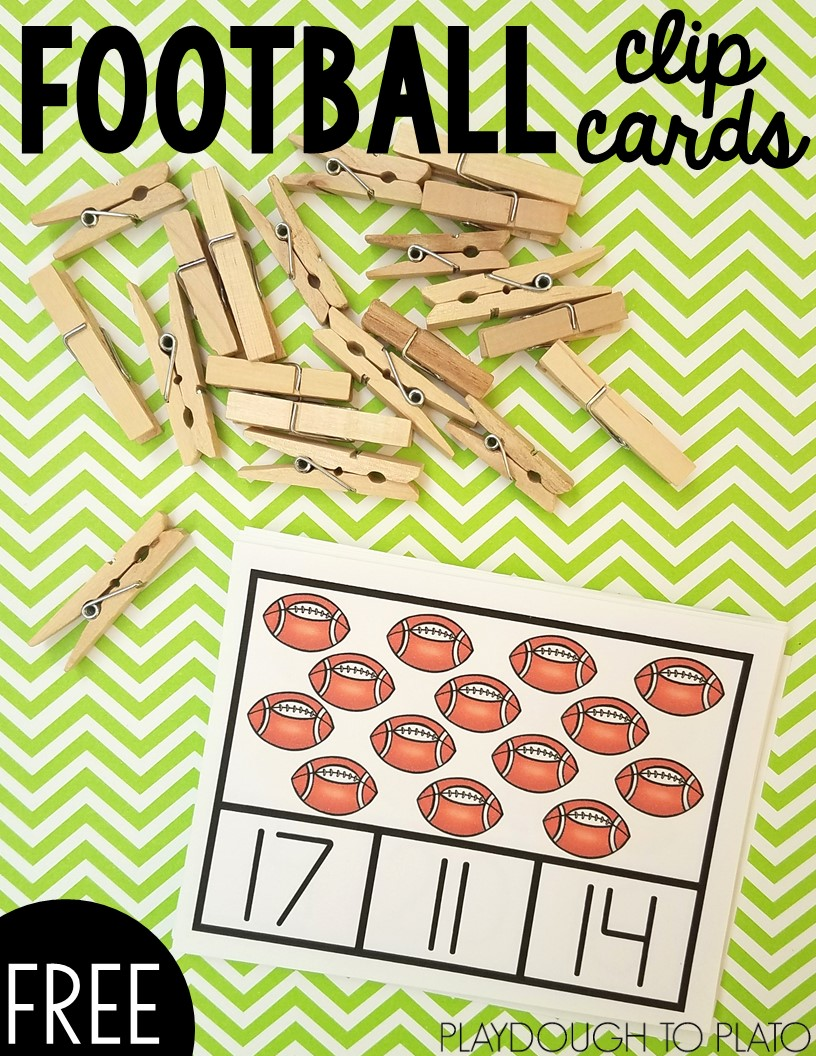 Football Clip Cards