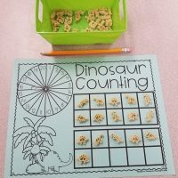 Dinosaur Counting Mat