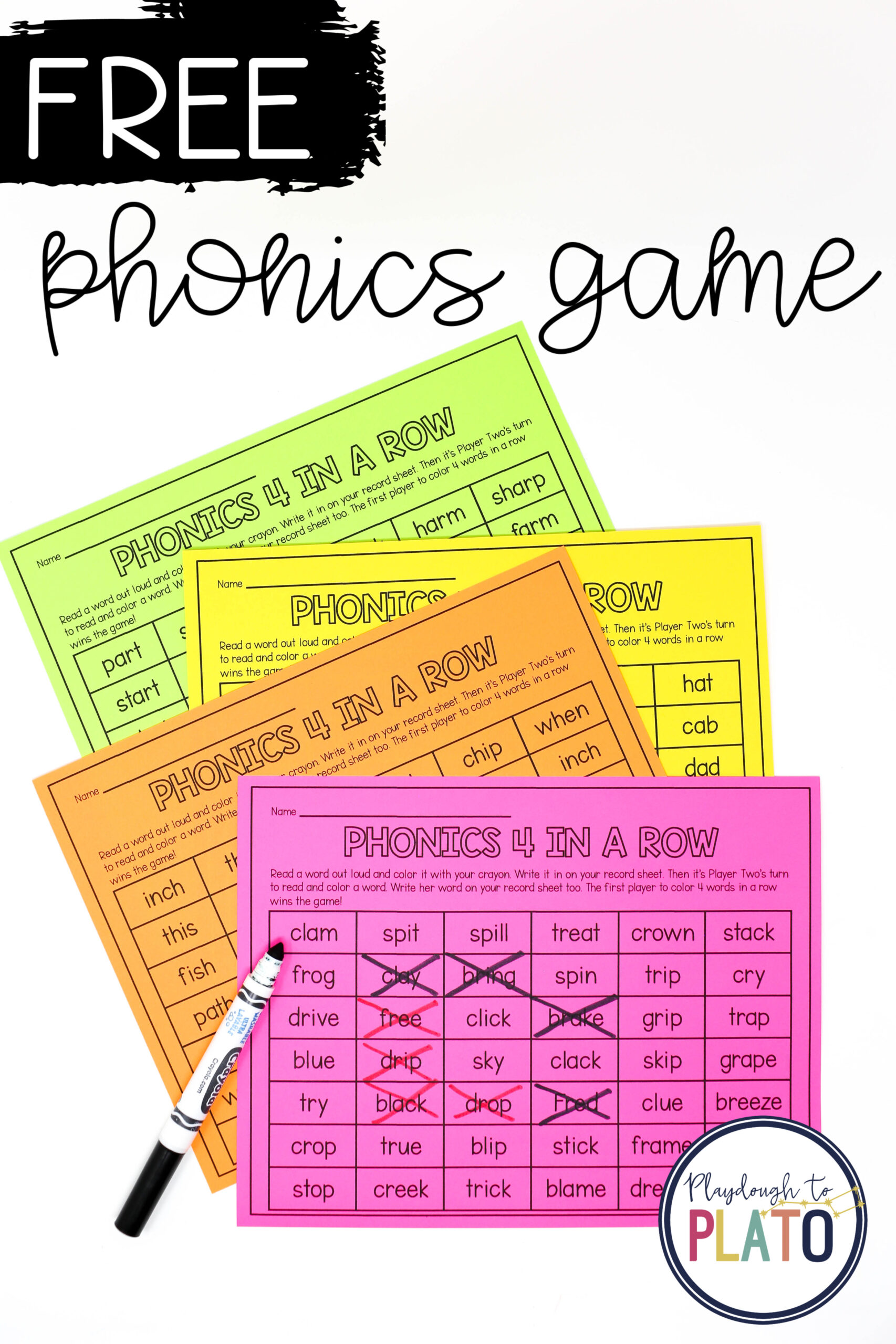 Phonics 4 in a Row