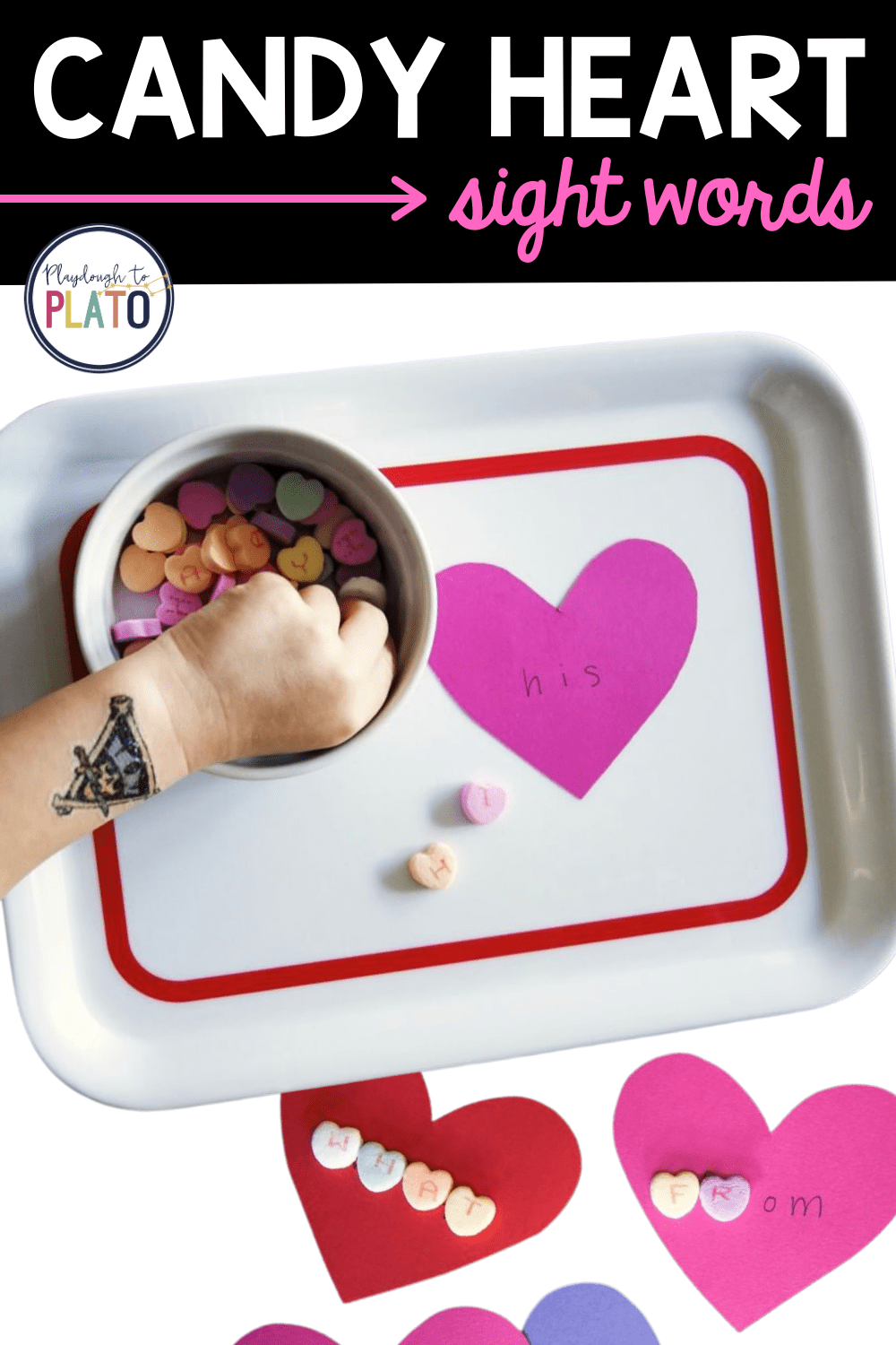 Candy Heart Sight Words Activity
