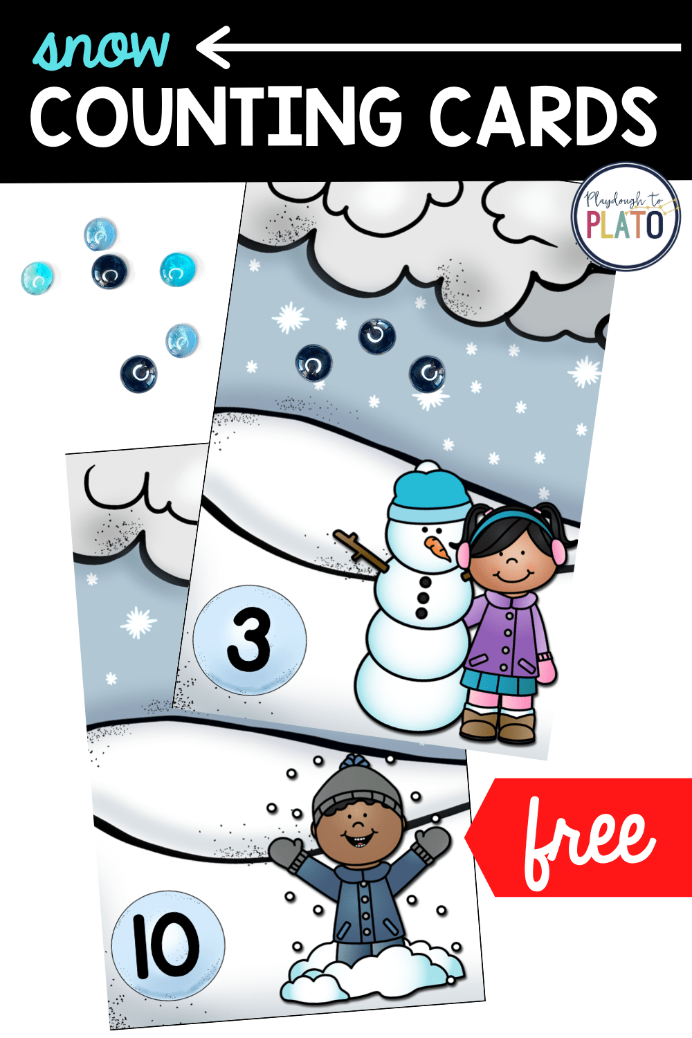 Snow Counting Cards
