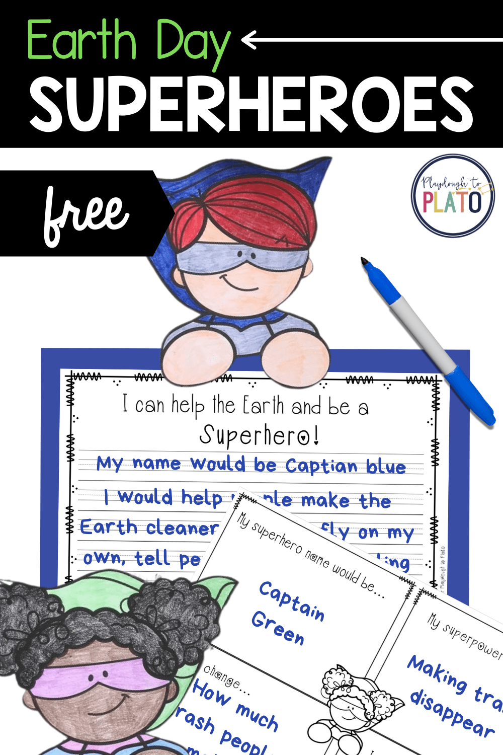 Earth Day Superheroes Activity