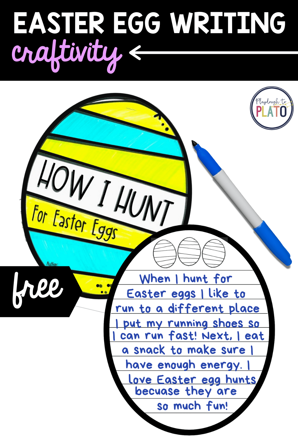 Easter Egg Writing Craftivity