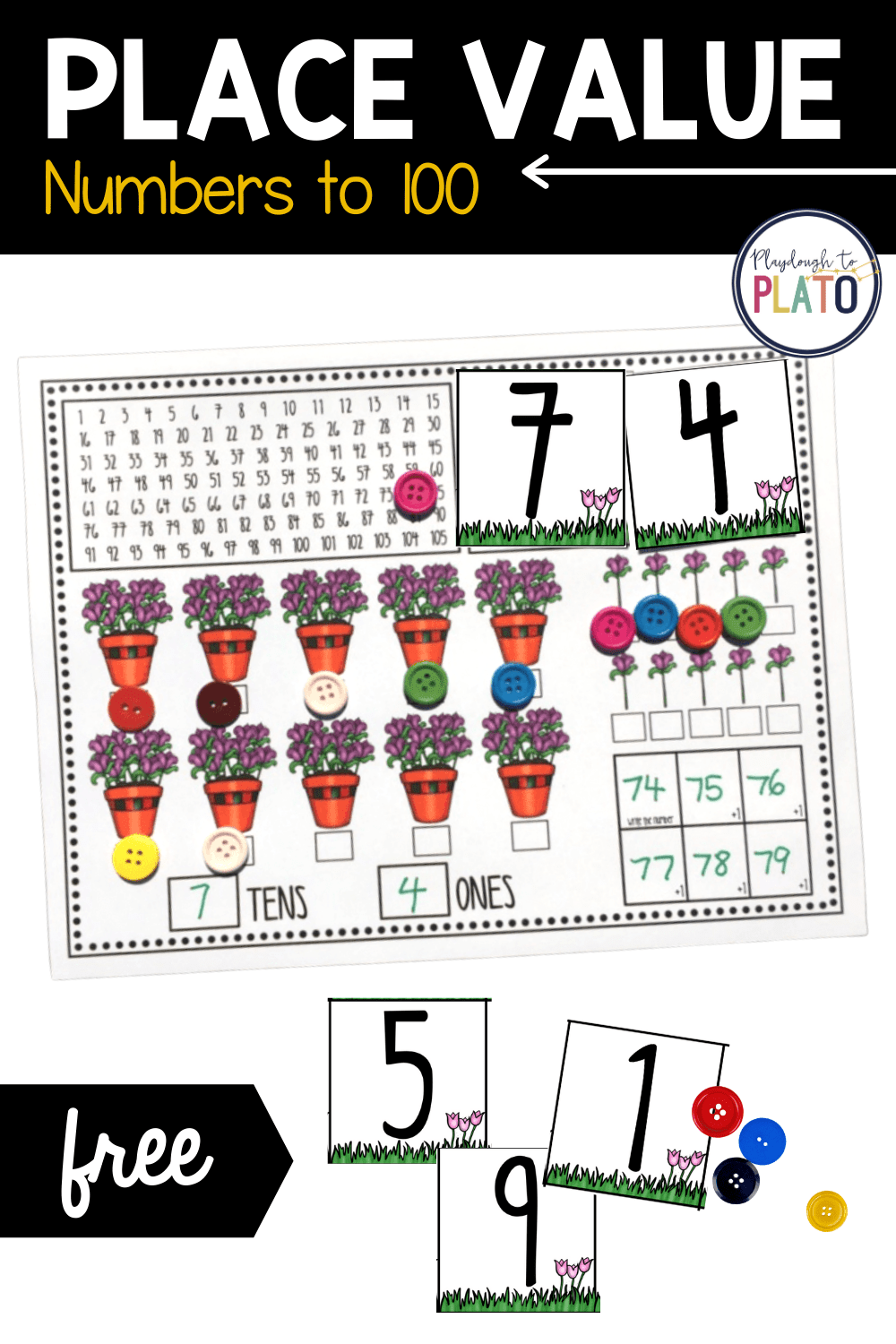 Place Value Activity Mats to 100