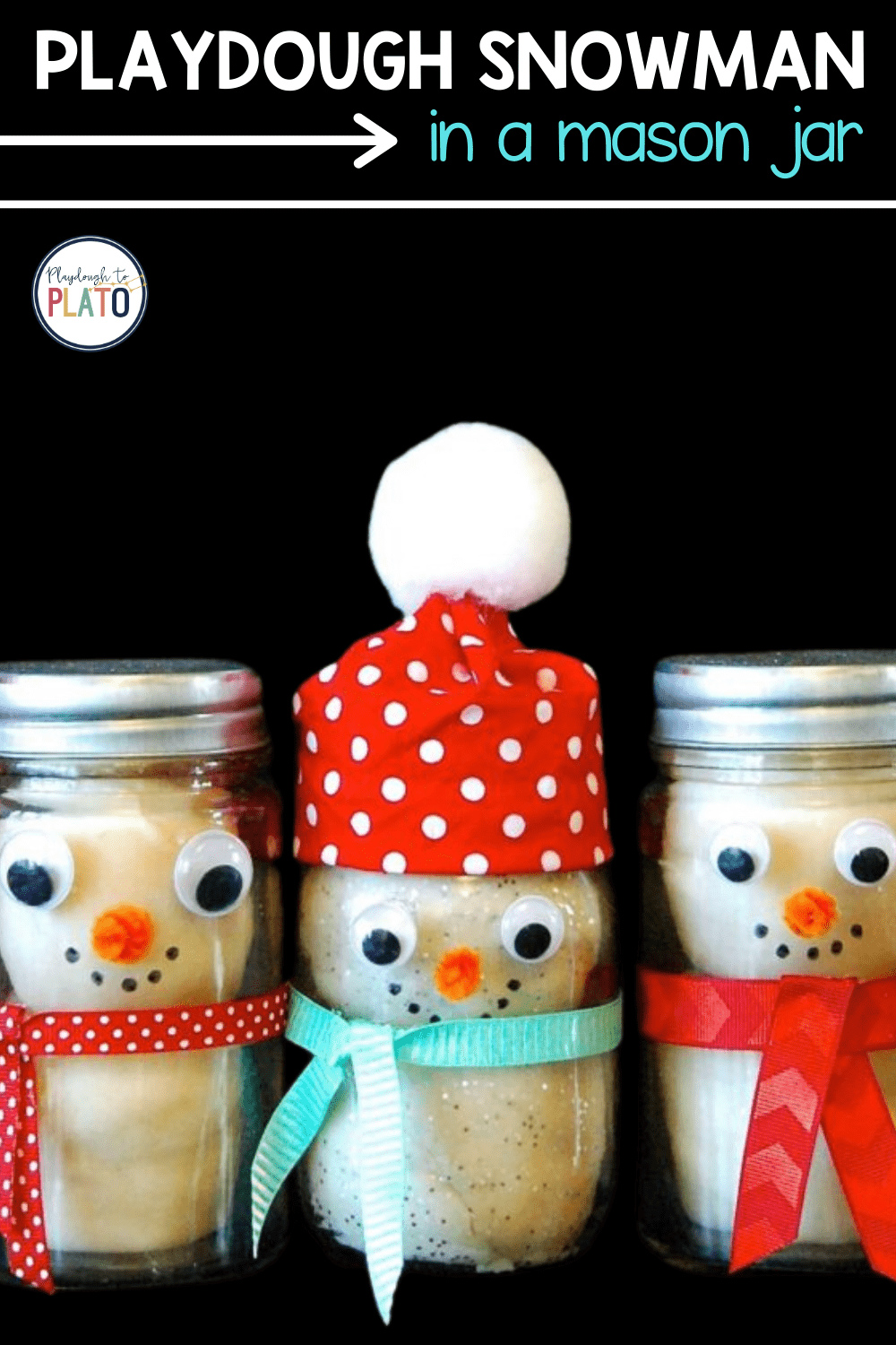 Playdough Snowman in a Jar