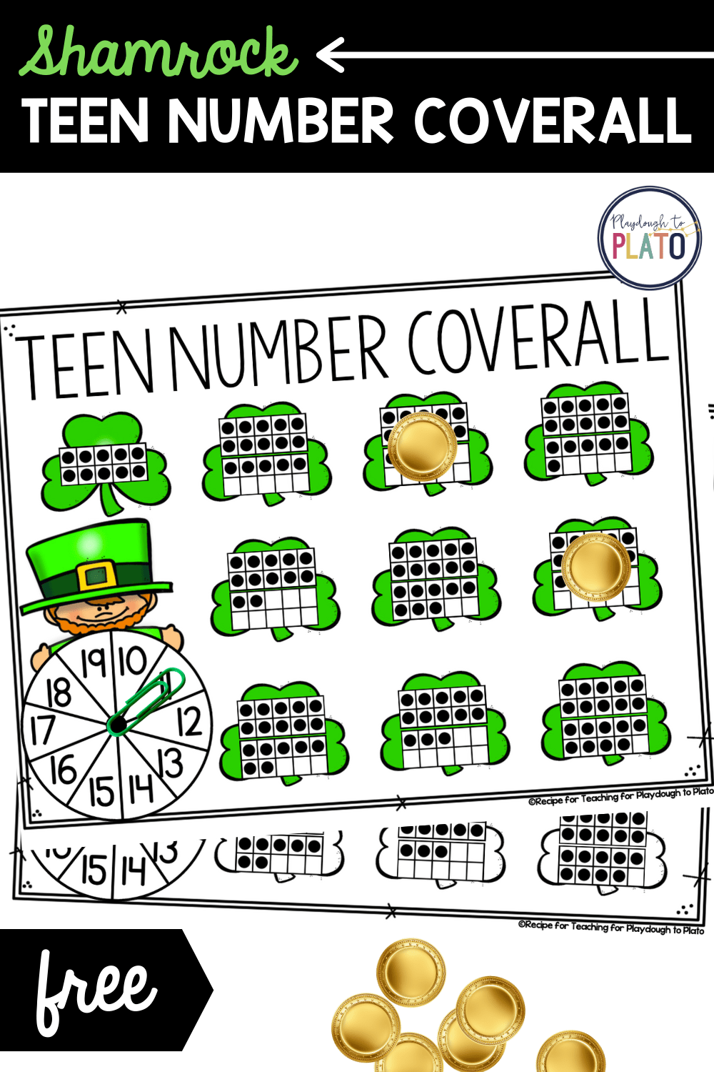 Teen Number Coverall Activity