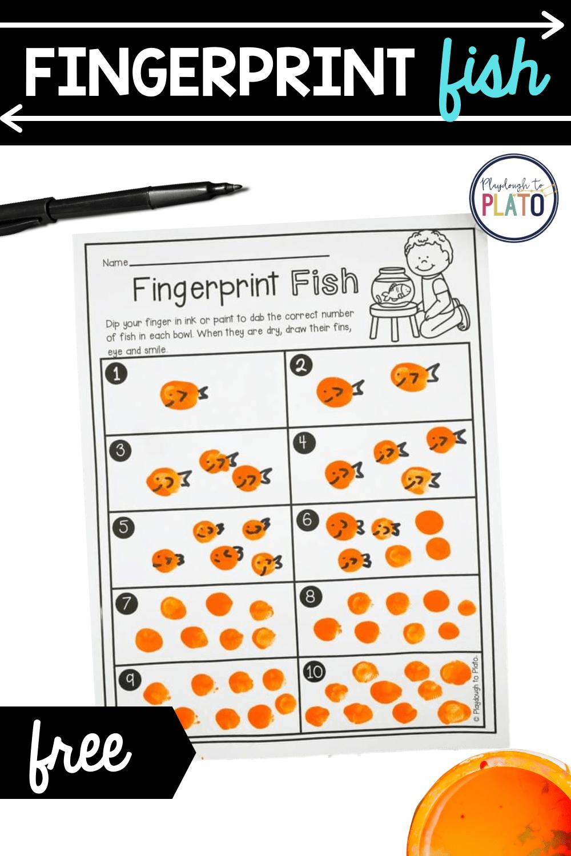 Fingerprint Fish Number Activity