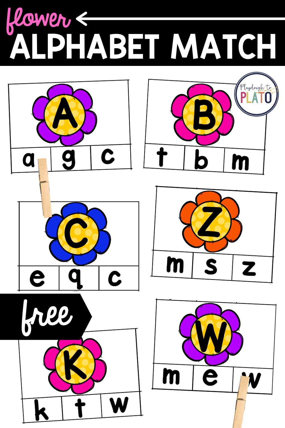 Flower Alphabet Match