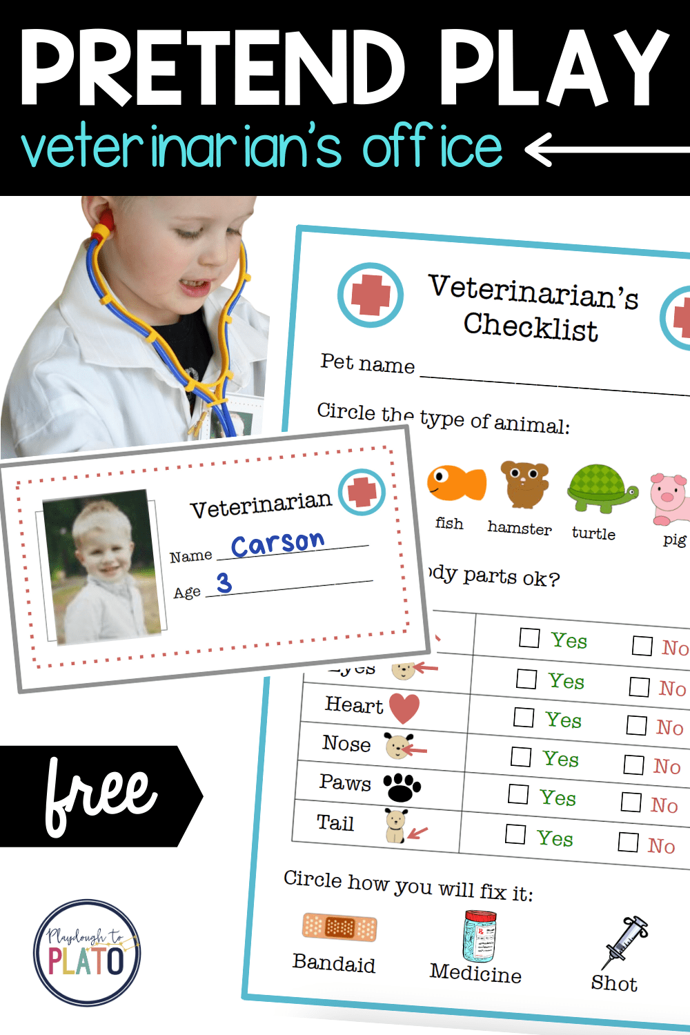 Pretend Play Veterinarian's Office