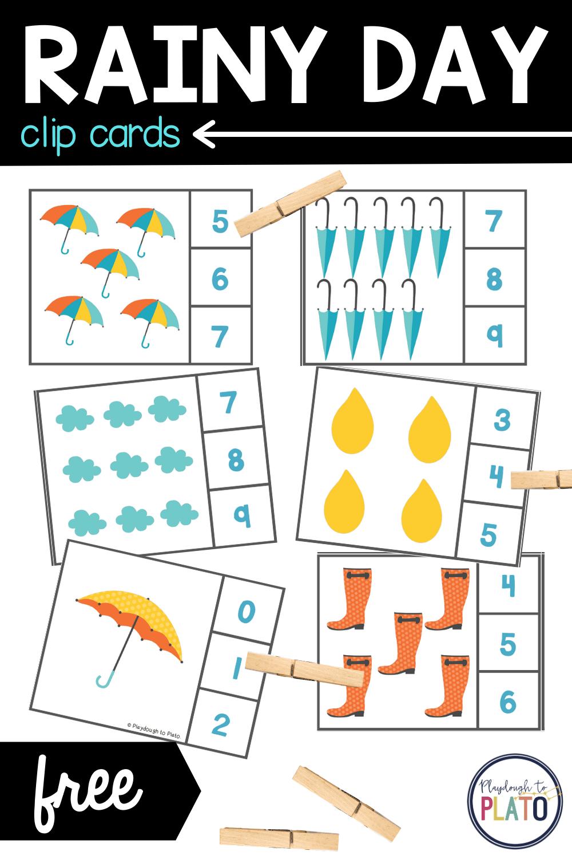Rainy Day Clip Cards