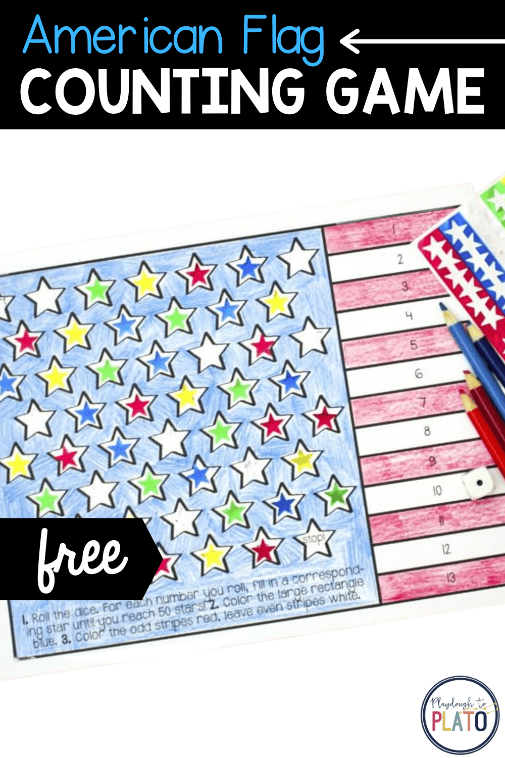 American Flag Counting Game