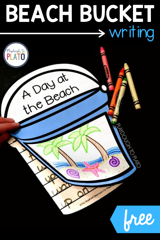 Beach Bucket Writing