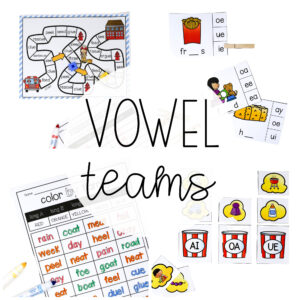 Vowel Team Centers and Posters