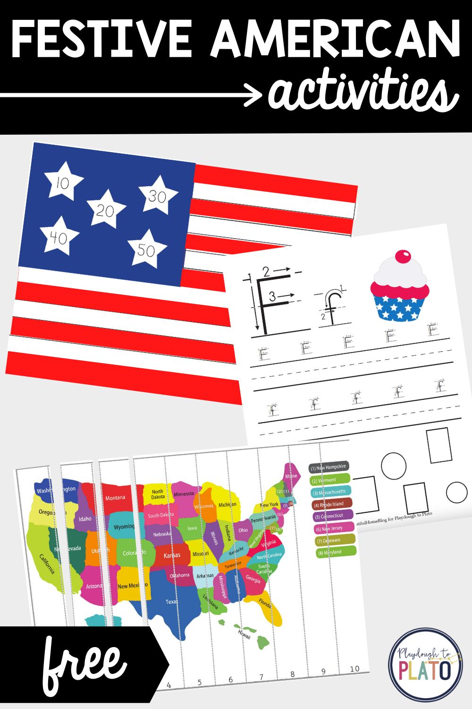 Festive American Activity Pack