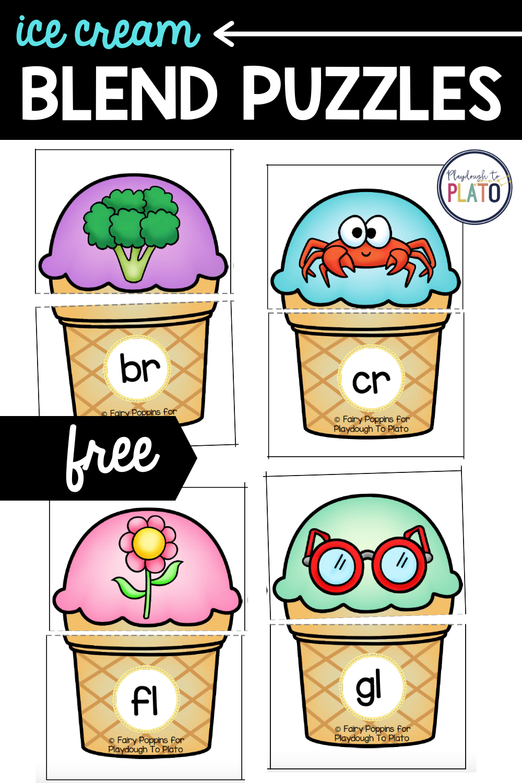 Free Ice Cream Blend Puzzles