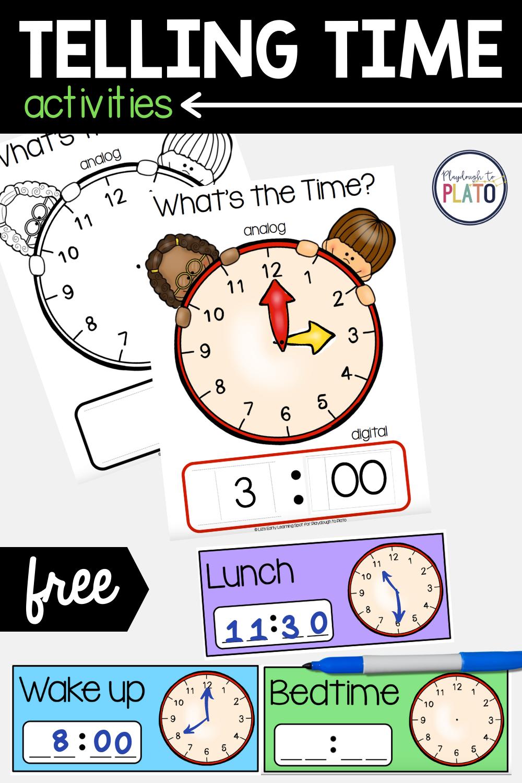 Telling Time Activities   Playdough To Plato