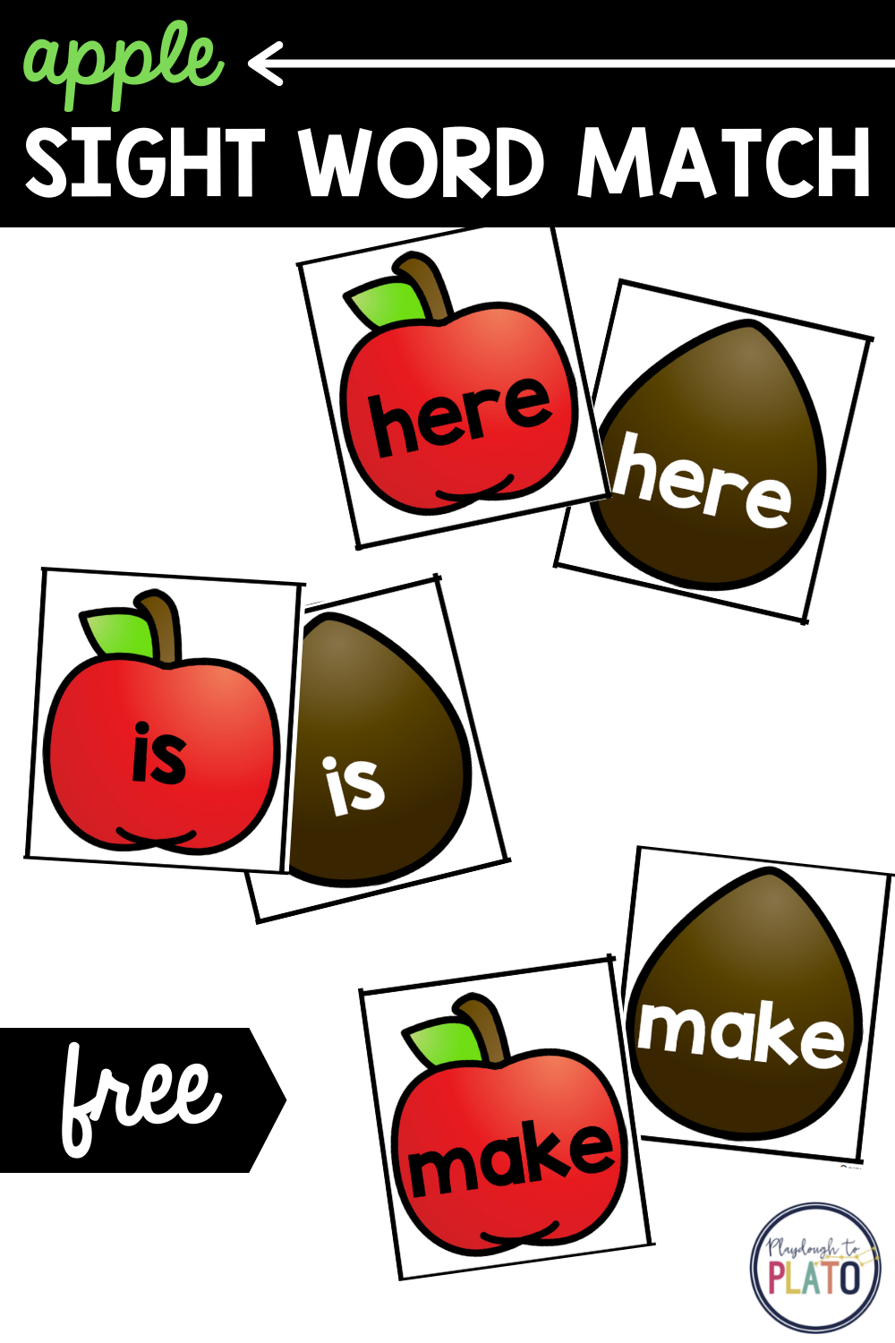 Apple Sight Word Match