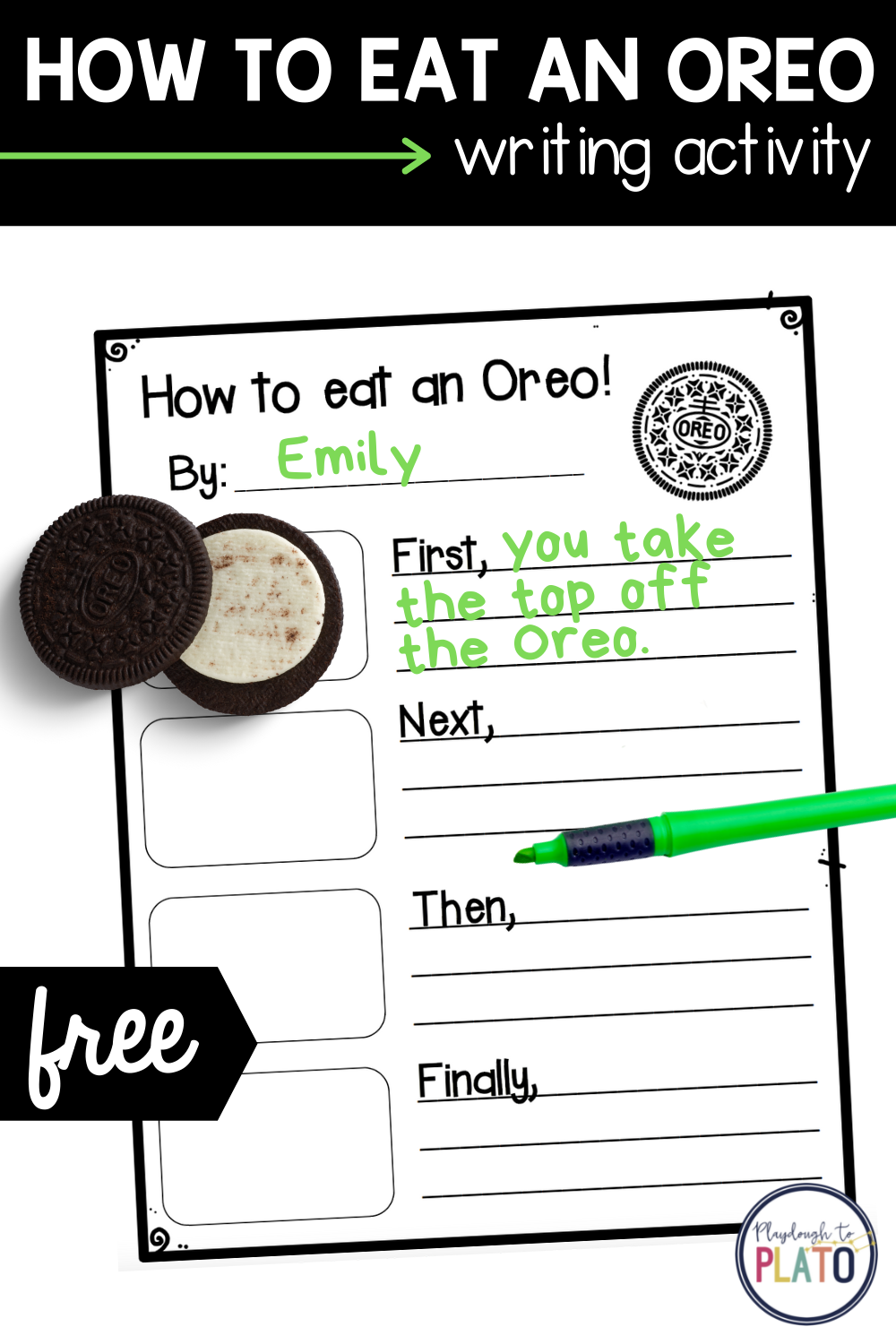 How to Eat an Oreo Writing Activity
