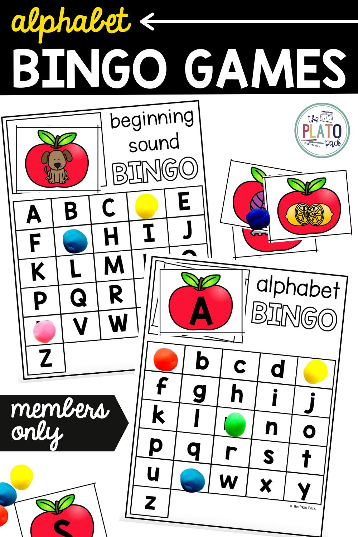 Alphabet Bingo Games