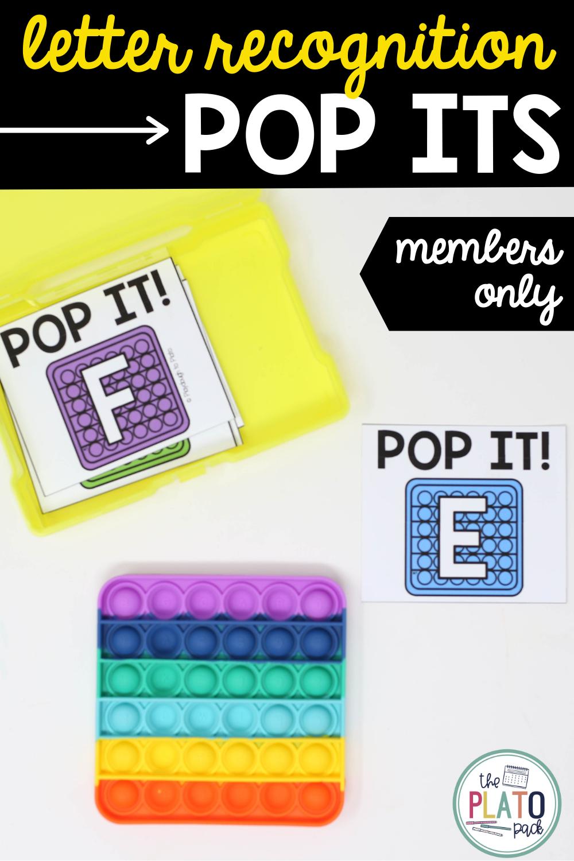 Pop It Letters